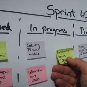 Daily scrum updating the sprint plan