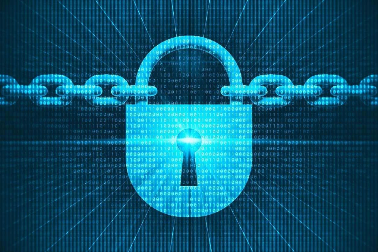 Digital security background.